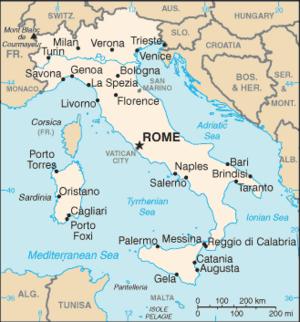 Map Of Italy Showing Verona.Verona Woi Encyclopedia Italia